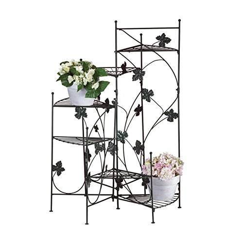 New Folding Metal Plant Stand (Ivy Metal Six Staircase Style Plant Pot Stand Rack,New)