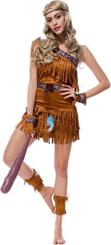 Disfraz de india Para Mujer Cosplay Halloween Carnaval Talla M ...