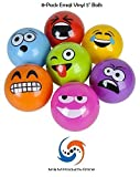8-PACK of 5'' Emoji Vinyl Playground Balls by M & M Products Online