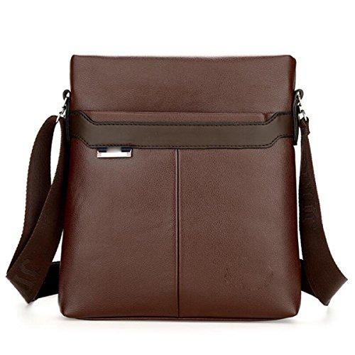 Bukuang Businessmen Shoulder Diagonal Package Casual Fashion Simple And Elegant Fashion, Black Brown