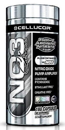 Cellucor - NO3 Chrome Amplificateur nitrique oxyde Pompe - 180 Capsules