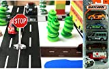 Matchbox Mega City builder Set miniature road signs & Road play tape Black & White Roll City Scene Collection trees and 5-pack cars & trucks offers