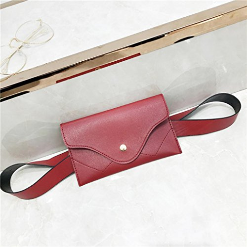 Wallet Leather Messenger Color Elegant Women Clutch Handbags Black Evening Splice Pure Red Envelope Pocciol xASaCBqwA