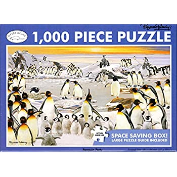 Penguins At the Beach Puzzle ~ Over 550 Pieces by Great American Puzzle Factory