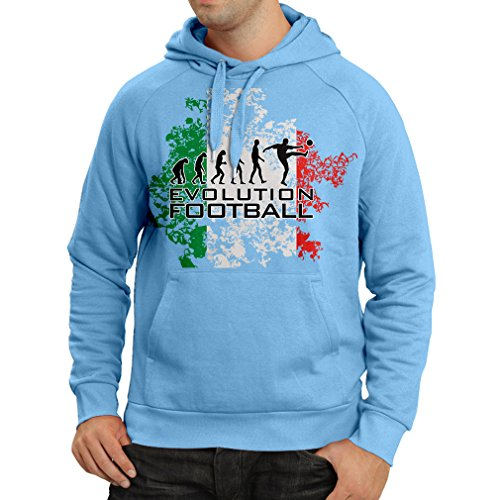 fan products of N4452H Hoodie Football Evolution - Italy (Medium Blue Multi Color)