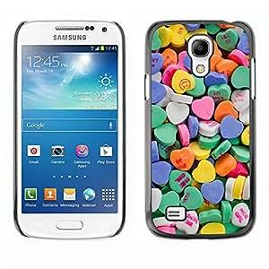 Caucho caso de Shell duro de la cubierta de accesorios de protección BY RAYDREAMMM - Samsung Galaxy S4 Mini i9190 MINI VERSION! - Blue Love Hearts