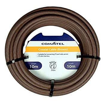 Commtel Cable Coaxial marrón 10 M: Amazon.es: Electrónica