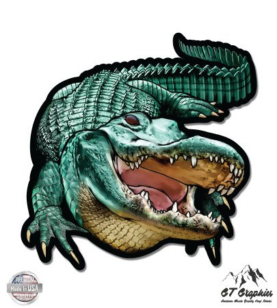 Florida Gators Helmet Decal - Alligator Gator Jaws - 5