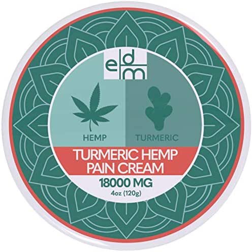 Everyday Medical Turmeric Hemp Pain Relief Cream I Advanced Turmeric Hemp Extract Pain Relief Analgesic Cream for Arthritis Pain Relief, Inflammation, Back Muscle and Joint Relieving Pain