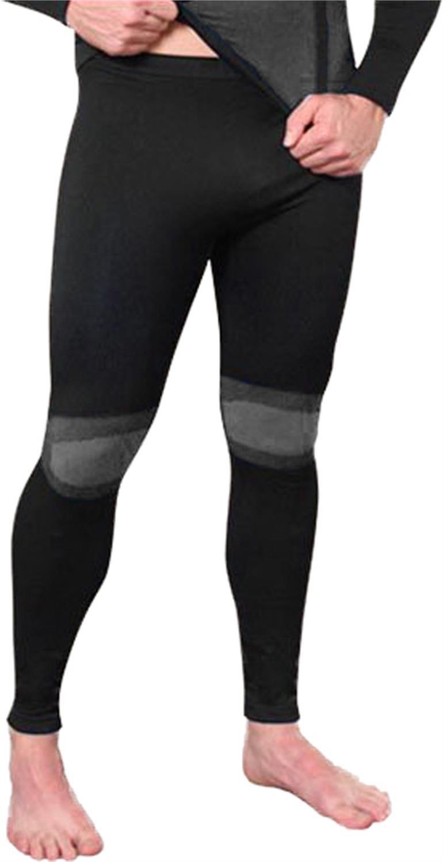 Sport Funktionswäsche Herren Hose Lang Seamless - Ski-, Thermo- & Funktionshose ohne störende Nähte mit Elasthan in versch. Farben