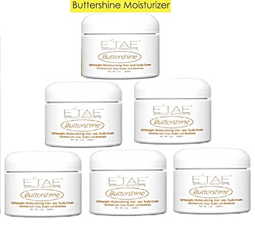 E TAE Natural Products – Buttershine Moisturizing Hair and Scalp Cream 2oz 3 Pack
