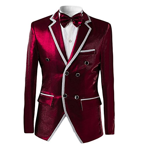 Mens 2-piece Suit Double Breasted 2 Button Tuxedo Formal ...