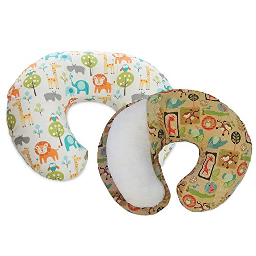 Boppy Pillow with 2 Slipcovers, Peaceful Jungle and Jungle Patch
