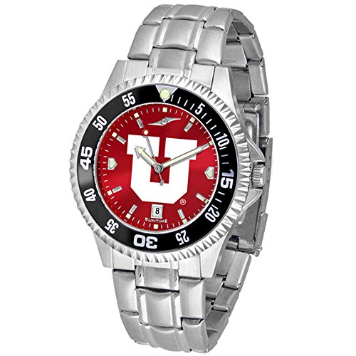 Utah Utes Competitor Steel Watch (Utah Utes Competitor Steel AnoChrome Color Bezel Men's Watch)