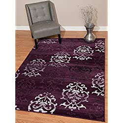 United Weavers of America Dallas Countess Rug, 5 x 8', Plum
