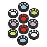 Cheap 10 PCS Silicone Analog Controller Thumb Stick Grips Cap For Nintendo Switch NS Controller Joy-Con ThumbStick( Cute Cat Paw Claw)