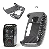 Timmart Carbon Fiber Key Shell Fob Cover Case Replacement Remote Key for Jaguar/Land Rover/Range Rover