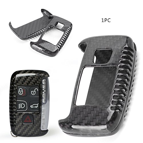 Timmart Carbon Fiber Key Shell Fob Cover Case Replacement Remote Key for Jaguar/Land Rover/Range Rover by Timmart