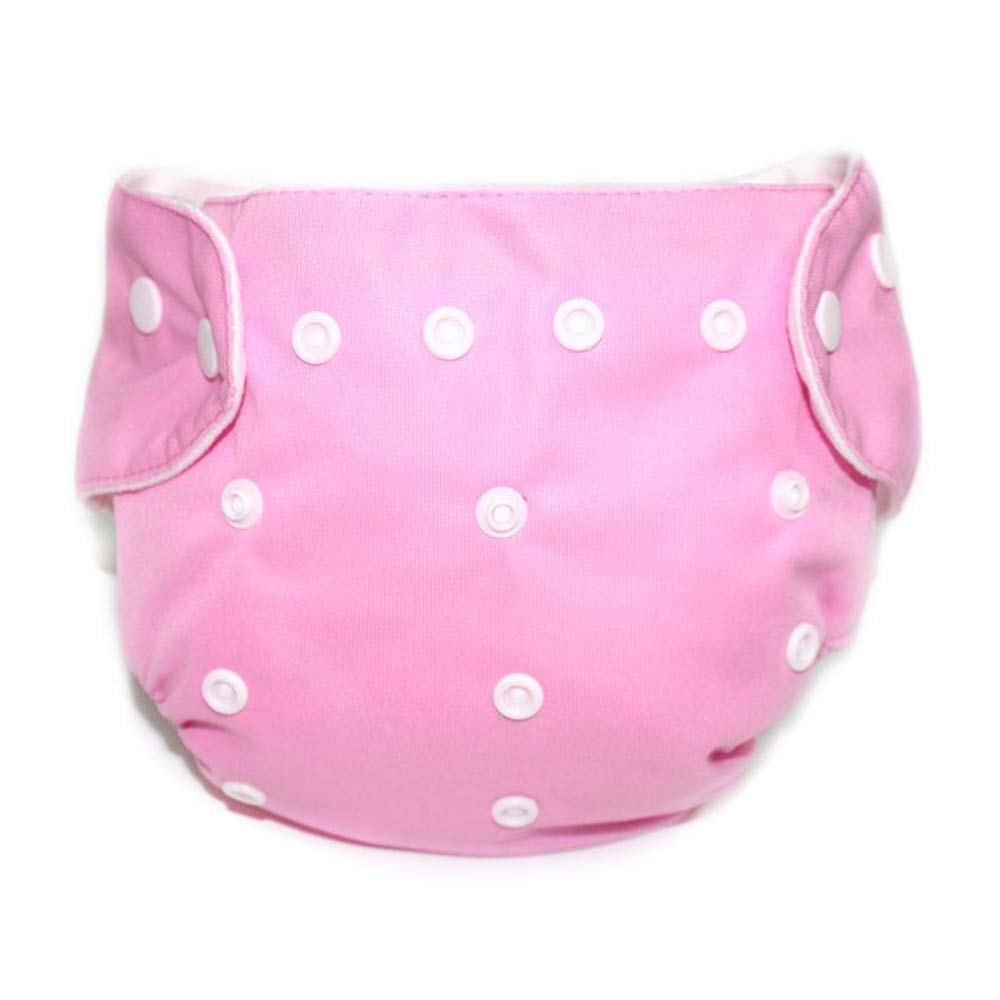 EbuyChX Waterproof Breathable Button Type Washable Baby's Diaper Pants Pink
