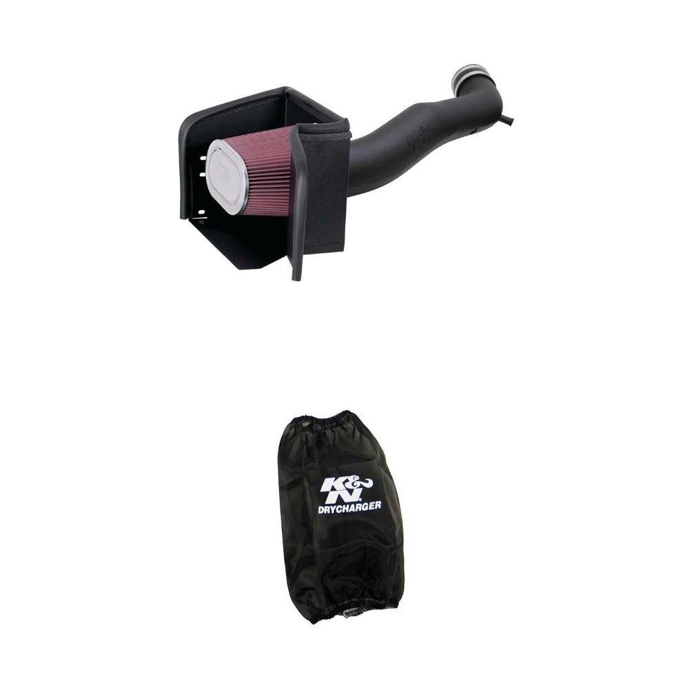 K/&N 57-1533 Performance Air Intake System with Black Air Filter Wrap