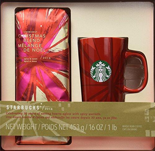 Starbucks 16oz Christmas Blend 2014 with Red Starbucks Coffee Mug (Starbucks Gift Sets Christmas)