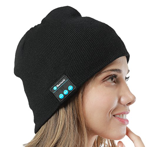 GoldWorld Bluetooth V4.1 Wireless Musical Beanie Winter Hat Knit Cap Beanies with 2 speakers Unique Christmas Gifts for Kids Men Women Teen Boys Girls Outdoor Sport Running (Child Skull Teeth)