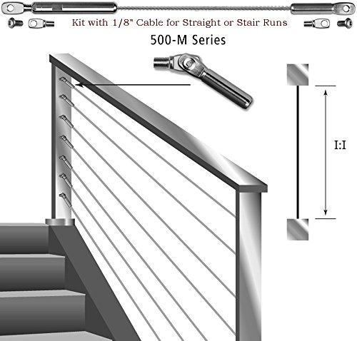500-M SERIES Ultra-tec Cable Railing Kits For Metal - Kits Metal Railing