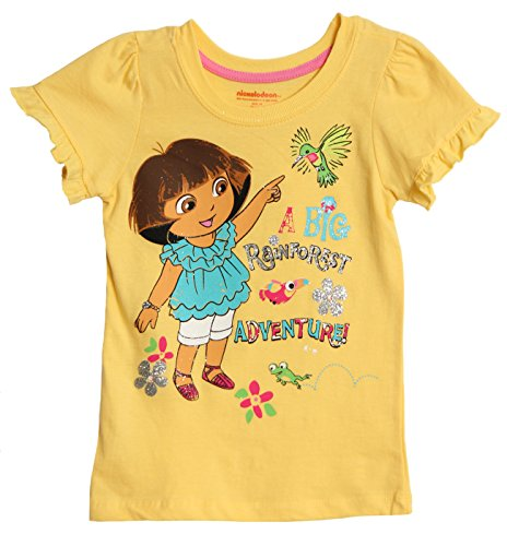Nickelodeon Little Girls' Yellow Dora the Explorer Fashion T-shirt