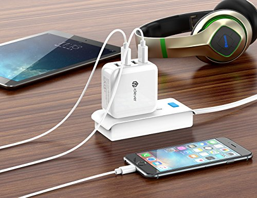 iClever BoostCube 40W 8A 4-Port USB Wall Charger, Multi-Port Travel Charger, Charging Station for iPhone Xs/XS Max/XR/X/8/7/6/Plus, iPad Pro/Air 2/Mini 4/3, Galaxy/Note/Edge, LG, Nexus, HTC, and More