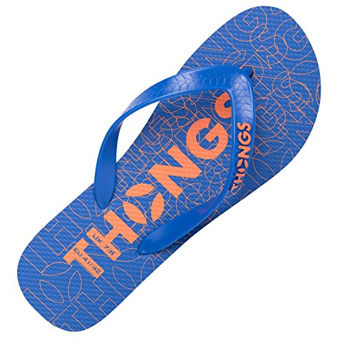 Thongs Print para Blue Design hombre Sandalias rYxrgwqRCn