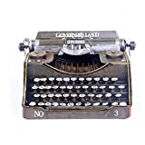 QY-Our Retro Vintage Typewriter Model American Countryside Style Metal Decoration Art Crafts for Home, Coffee Bar Decoration