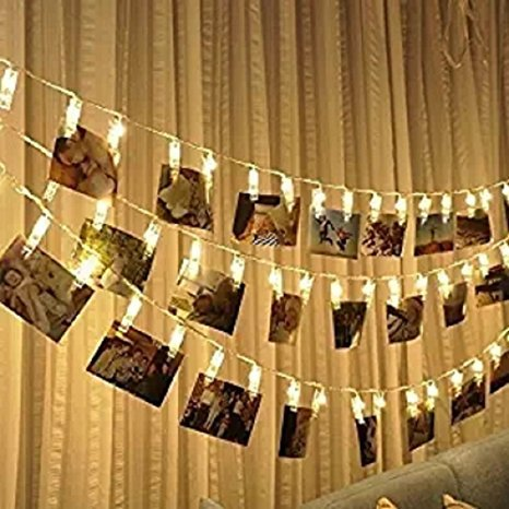 Mairola Photo Clips String Lights- Clip On Led Light Battery Powered Clip Light for Hanging Photos Pictures Cards and Memos, Ideal gift for Bedroom - Mall Light House Outlet