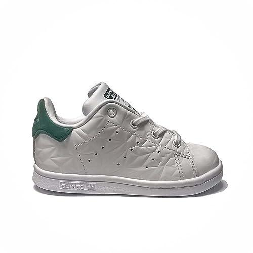 adidas Stan Smith 1, Scarpe Bambino da Tennis, Bianco, S76986, 20EU (