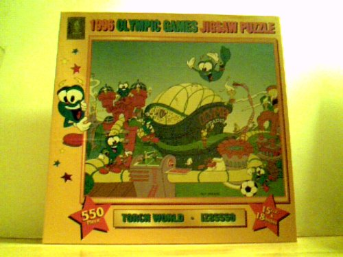 1996 Olympic Games Jigsaw Puzzle - Torch World - IZ85550 - 550 Pieces 15 1/2