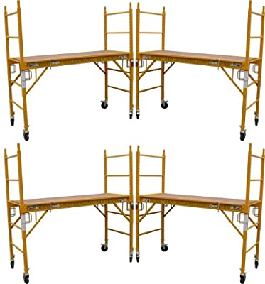 4 Set of 6 feet Multi Purpose Scaffold Rolling Tower Baker-Style Scaffold with U Lock
