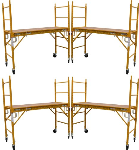 4 Set of 6 feet Multi Purpose Scaffold Rolling Tower Baker-Style Scaffold with U Lock