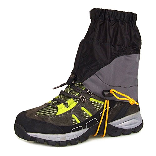 Skate Womens Ski Boots (Yooan 1 Pair Outdoor Trekking Gaiters Snow Climbing Shoes Protective Cover Ski Hiking Walking Waterproof Skate Short Legging Gaiters)