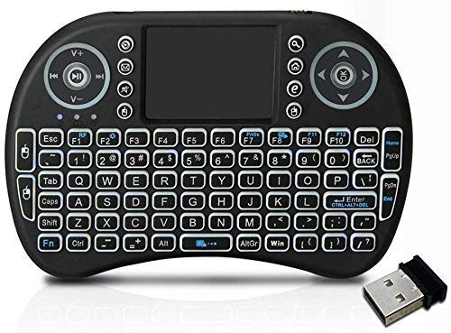 Saleshop365® Mini 2.4GHz Wireless Touchpad Wireless Keyboard and Mouse (Touchpad with Backlight) with Smart Function for Smart Tv, Android Tv Box, Raspberry-Pi, Android & iOS Devices