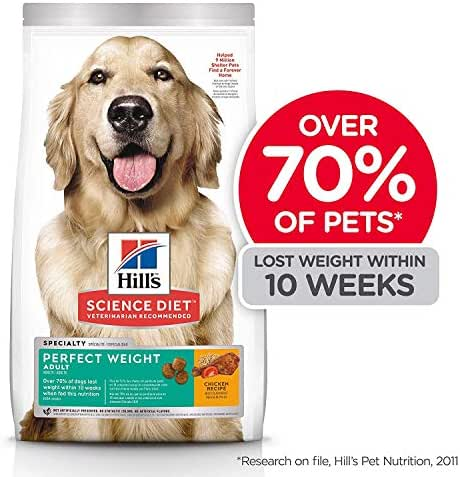 Hill's Science Diet Dry Dog Food, Adult, Perfect Weight for Healthy Weight & Weight Management, Chicken Recipe, 28.5 lb Bag
