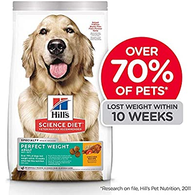 Hill's Science Diet Dry Dog Food, Adult, Perfect Weight for Weight Management, Chicken Recipe