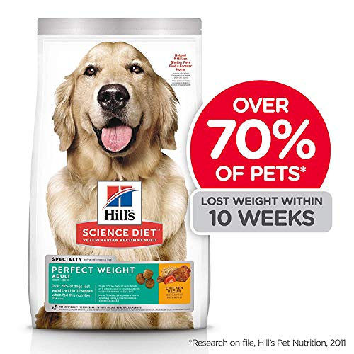 Hill's Science Diet Dry Dog Food, Adult, Perfect Weight for Healthy Weight & Weight Management, Chicken Recipe, 28.5 lb Bag (Best Low Calorie Diet For Weight Loss)