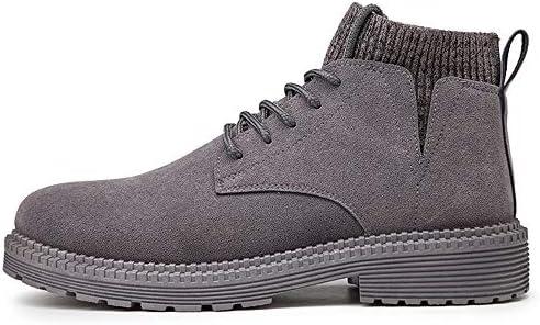 Jingkeji Men's Winter Ankle Work Boots