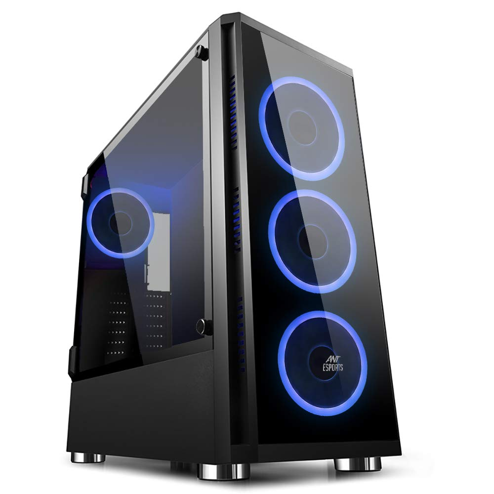 Ant Esports ICE-400TG Mid Tower Gaming Cabinet Supports ATX,