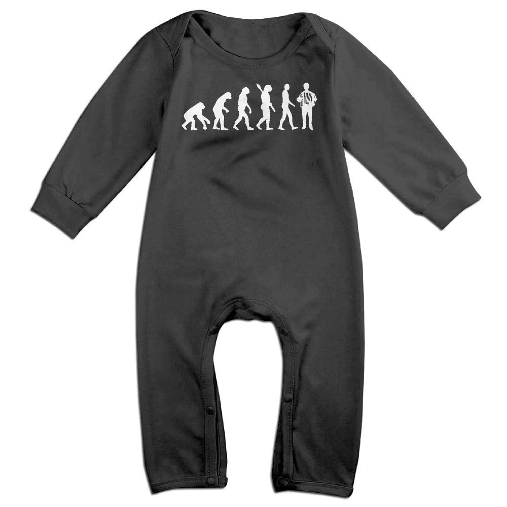 UGFGF-S3 Accordion Evolution Long Sleeve Infant Baby Boy Girl Baby Romper Jumpsuit Onsies for 6-24 Months Bodysuit