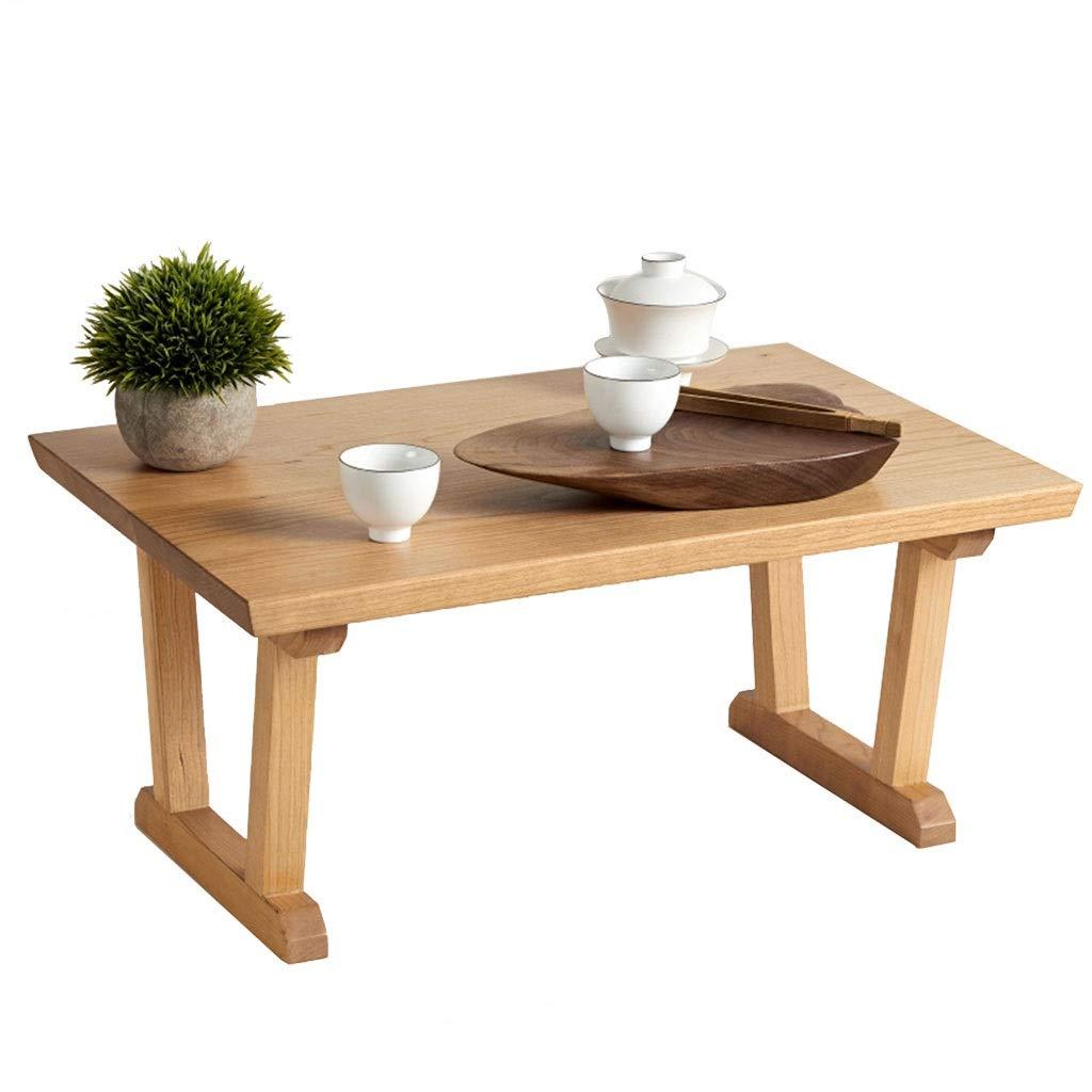 木製のコーヒーテーブル、4つのフィートのサポートフレームが付いている固体木ダイニングまたは居間の家具のための長方形TVの立場のラウンジの貯蔵 (色 : ナチュラル) B07NVTN8SG ナチュラル