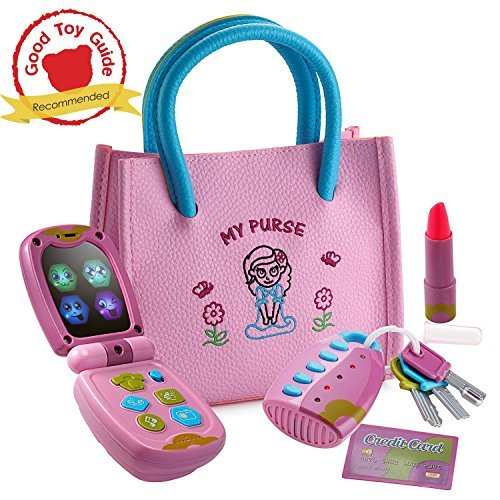 Dress Up America Little Girl's My First Purse - Pretend Play Kid Purse Set for Girls Accessory, Multi Color, One Size