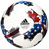 adidas Performance MLS Top Glider Soccer Ball, White/Red/Blue, Size 4