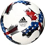 adidas Performance 2017 MLS Top Glider Soccer Ball, White/Red/Blue, Size 3