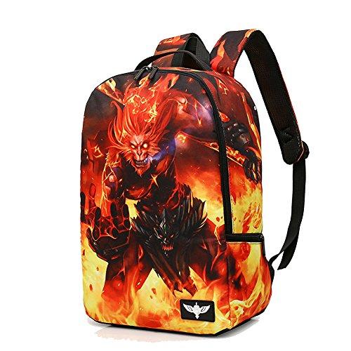 - YOURNELO Boy's Fashion European Style Creative Monster Rucksack School Backpack Bookbag (Monkey King Hero Is Back)