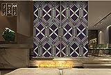 Blackout Art Home Hanging Japanese Privacy Screen Room Divider Sliding Door Roller Shade Doorway Entry Decor Screen Fashion Poker